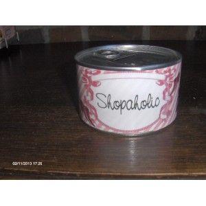 """Spaarblik  """"shopaholic"""
